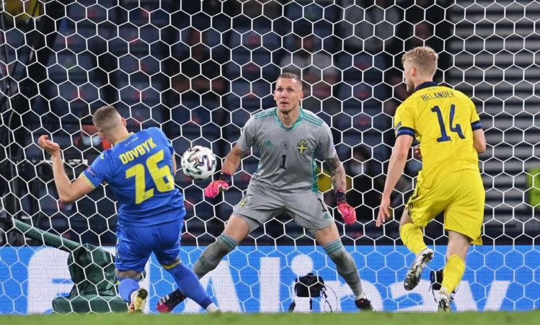 أوكرانيا تكمل عقد المتأهلين إلى ربع نهائي اليورو بهدف قاتل في مرمى السويد