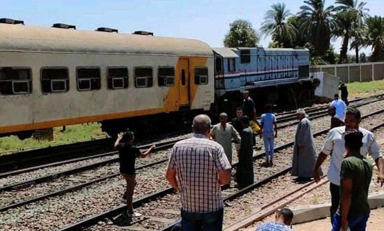 اصطدم قطار ركاب بمحطة نجع حمادي