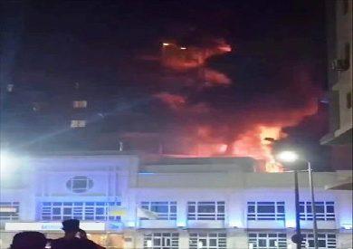 حريق-بفندق-الاسكندرية
